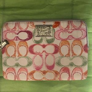 NWT Coach Poppy Laptop Case